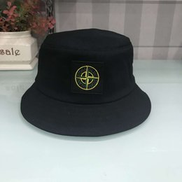 3a7a70260fb New Fashion Designer Leather Letter Bucket Hat For Mens Womens Foldable  Caps Black Fisherman Beach Sun Visor Sale Folding Man Bowler Cap