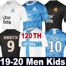 19 20 Olympique De Marseille camisa de futebol 2019 2020 Marselha maillot de foot BENEDETTO Camisetas THAUVIN PAYET Maillots de camisa de futebol de Fornecedores de jaqueta de ozil