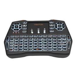 Беспроводные светодиодные клавиатуры онлайн-Wholesale New i8plus Mini LED Backlit Wireless Keyboard  Air Mouse Touchpad for PC Android
