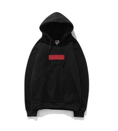 hollister hoodie Promo Codes - Mens Brand Designer Box Logo Embroidered Hoodies Hip Hop Sweatshirt Casual Male Hooded Pullover Winter Jumper