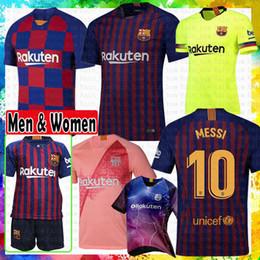 b83b4441a39 Barcelona soccer Jersey 18 19 New  10 Messi  8 Iniesta  9 Suárez  11  Dembele  14 Coutinho 2019 Football shirts Thai Quality Home AWAY top