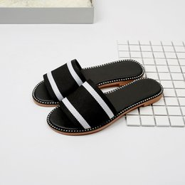 Schöne pantoffeln online-Sommer Neue Mode Temperament Schöne Sandalen Weibliche Flache Unterseite Hausschuhe Mode Lässig Strand Schuhe Wilde jooyoo
