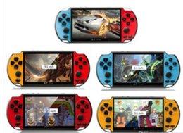 Nuovi giochi gba online-NUOVO 8GB X7 PLUS palmare giocatore del gioco 5.1 pollici schermo di grandi dimensioni PSP portatile console di gioco lettore mp4 con fotocamera TV Out video TF per GBA NES gioco