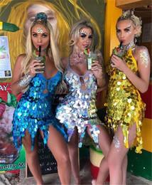 Parlak Kadınlar Latin Dans Elbise Kostümleri Asimetrik Motel Pullu Fringe Paraları Keyhole Dantel-Up Geri Bandaj Mini Kısa Elbise supplier keyhole back lace up nereden anahtar deliği gerdan dantel tedarikçiler