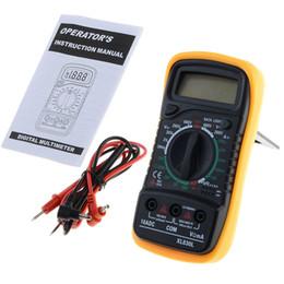 Tester di volt online-Multimetro digitale LCD XL830L Volt Meter Amperometro Ohmmetro AC DC Tester Meter
