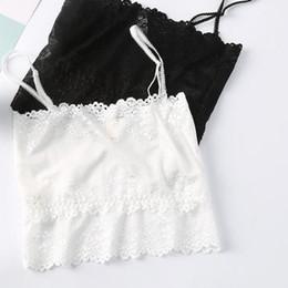 Cueca exposta on-line-Soutien underwear Anti Luz Sexy Vest Estilo Top ombro Exposed Voltar Lace inferior afiada bonita envolvida