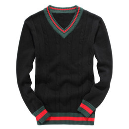 Canada Nouvelle marque Hommes Loisirs Chandails luxueux chandail de broderie à manches longues Pull à tricoter pull Zip cardiga chemise de couleur unie r3 cheap crochet shirts Offre