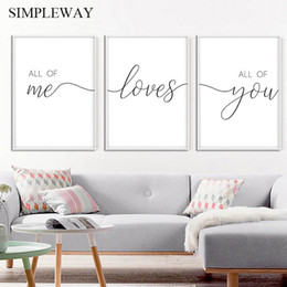 Couple Family Quote Love Nordic Art Picture Black White Minimalist Poster Wall Canvas Print Romantic Home Decoration Painting