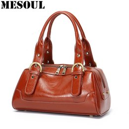 aa43f67953 2019 Fashion Bag Female Vintage Women Handbags Designer Shoudler Bags For  Ladies Boston Genuine Leather Bags Gift Mom Bolsa Feminina Totes