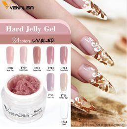 rosa französische gelnägel Rabatt 30ml 24 Farben Nail Art Maniküre Clear Pink Natural Camouflage Hartgelee Builder French Nail Extend Gel
