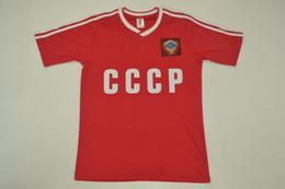 86-87 USSR home shirt rouge CCCP Union soviétique maillots rétro maillots de rugby Igor Belanov vantage chemise classique ? partir de fabricateur