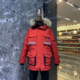 manteaux d'hiver mens canada Promotion Hommes Femmes parkas d'hiver du Canada Downs Fermeture à glissière de poche multi épais manteau 3 couleurs bas