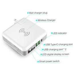 Global Travel Wireless Power Bank - Cargador de pared externo con Qi Wireless Super Charging Pad Compatible para iPhone, Samsung Galaxy iPads desde fabricantes