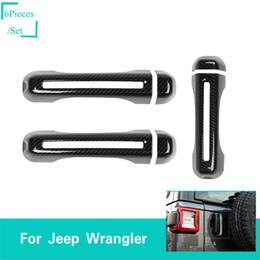 двери из углеродного волокна Скидка 2 Двери Углеродного Волокна Двери Автомобиля Хвост Снаружи Дверной Корпус 6 ШТ. Для Jeep Wrangler JL 2018+ Высокое Качество Авто Внешние Аксессуары