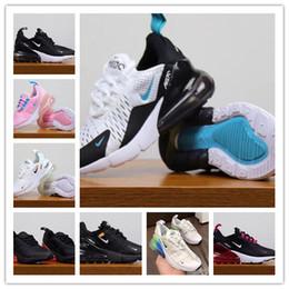 zapatos de kevin durant para niños Rebajas Nike Air Max 270 AirMax 2019 más nuevo 27C air Cushion Knit transpirable niños zapatillas niño niña niño deporte zapatillas tamaño 28-35