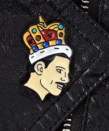 Broche de roca online-Freddie Mercury Pin, Broche de esmalte / Queen / Música Nuevo diseño Rock Band Queen Broche Pin Moda Pins Queen Band Músico Broches de joyería