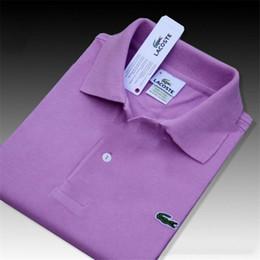 Camisetas sólidas para mulheres on-line-Brand New Mens designer fallow mangas curtas camisa polo T-shirt chefe Bordado t Shirt Para wo Men luxo Poloshirt Homens Algodão Curto