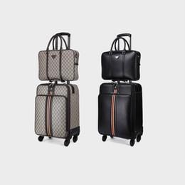 24 maletas rodando online-bolso de la serie 16/20/22/24 pulgadas del equipaje de la moda + bolso de la maleta del viaje del hilandero del equipaje del balanceo, caja universal de la carretilla de la rueda,