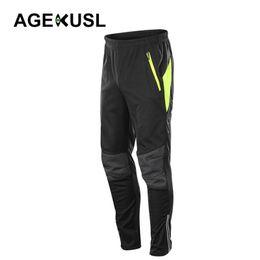 squadra di ciclismo rapido etixx Sconti AGEKUSL Sport invernale Pantaloni Ciclismo Caminate Sci Pantaloni Fleece Pantaloni termici degli uomini scaldano i pantaloni antivento Anti UV
