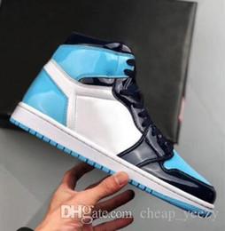 1s haute OG Blue Chill chaussures pour hommes de basket ball de femmes 1 UNC brevet Wmns ASG Obsidian Bottes en plein air All Star Game Top qualité