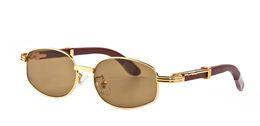 Lunettes de soleil ovales de lunettes de soleil de marque des femmes de marque mens de vague de métal de bouts en bambou de concepteur de lunettes de corne de buffle avec la boîte rouge ? partir de fabricateur