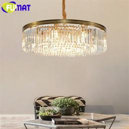 Bola de cristal burbujas luz colgante online-FUMAT Modern Bubble Glass Colgante Araña de iluminación de la bola de cristal Hanglamp LED Colgantes europeos Lustre lámparas