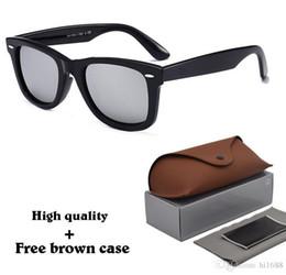 Шарниры для очков онлайн-Высочайшее Качество Бренда Дизайнер Мужчины Женщины Солнцезащитные Очки Металлический Шарнир (100% Стеклянный Объектив) Планка Рамка Старинные Мужские очки С Чехлом и коробкой