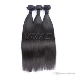 Malezya Bakire Saç Ipeksi Düz Doğal Renk Saç Demetleri 100 g / adet 3 adet En Kaliteli Toptan İnsan VMAE SAÇ nereden insan saçı üst parçaları tedarikçiler