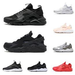 mens huarache chaussures Promotion nike air Huarache Ultra Run chaussures triple blanc noir hommes femmes Chaussures de course rouge gris Huaraches sport Chaussure Hommes Femmes Sneakers nous 5.5-11