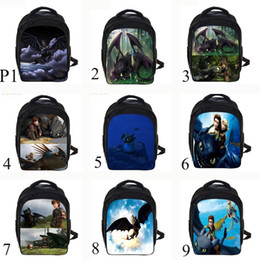 b40e6549432 Cartoon Backpack Toothless Hiccup Design 3D How to Train Your Dragon  Backpack Kids School Bags For Boys Menino C5 boys school bag design  promotion