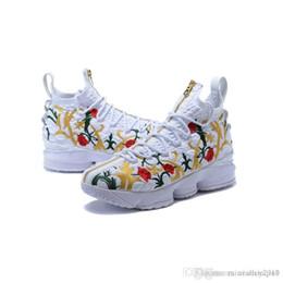 новые рождественские баскетбольные туфли Скидка Дешевые новые то, что lebron 15S мужская баскетбольная обувь для продажи MVP Рождество BHM Oreo молодежные детские кроссовки сапоги с оригинальной коробке
