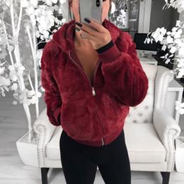 Plus größe faux pelz kleidung online-Mode Frauen Faux-Pelz-Mantel-Winter Warm Plüsch Hoodies Jacken weiblich Slim Fit Overcoat Kleidung 2019 Outwear plus Größe 3XL