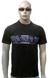 Foto a colori viola online-RARE Deep Purple Official Tour 2008 BAND PHOTO ROArrive STAR T-Shirt da concerto g.m