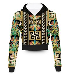 Qualsiasi colore Qualsiasi stampa Su misura Colorata di lusso VS Felpa con cappuccio crop con cappuccio a sublimazione 3D Sublimation Plus Size Clothing da vs abbigliamento fornitori