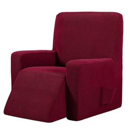 Sofá de massagem on-line-Waterproof Elastic reclinável Cadeira Coberta All-Inclusive Massagem Sofa Couch Cover for Wingback Chair sofá vermelho