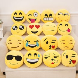2020 regali smiley Carino Emoticon Morbido Cuscino Emoji Cuscino Divertente Emoticon Cuscino Peluche Ripiene Seggiolino Auto Decorativo Gettare Cuscino Regalo Fidanzata regali smiley economici