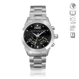 исламские часы Скидка Islamic Watch with Azan Time Harameen 6102 Alfajr Watch WA-10 32mm Adhan Clock Athan Wristwatch with Quran Bookmark relogio
