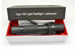 Venta caliente Nuevo 1101 Tipo de Tacto Edc Linternas Light Cree Led Linterna Táctica Lanterna Autodefensa Antorcha 18650 incorporado Envío gratis desde fabricantes