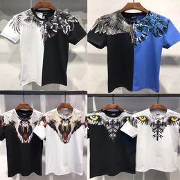 2019 vêtements pour animaux pour femmes Nouveau été hommes femmes Marcelo Burlon T-shirt plume ailes de mode marque vêtements de haute qualité Marcelo Burlon T-shirts vêtements pour animaux pour femmes pas cher