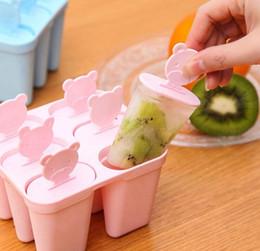 Glace Lolly Moules Maker Forme DIY Mignon 6 Ours Moule Popsicle Moules Yaourt Glacière Réfrigérateur Frozen Ice Cream Outils ? partir de fabricateur