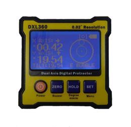 Canada Freeshipping Indicateur de niveau électronique Règle d'angle de barre de correcteur / correcteur de niveau numérique à deux axes DXL360 MOQ = 1 livraison gratuite Offre
