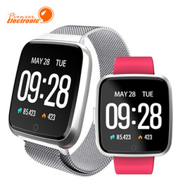 bracelet phones for kids Promo Codes - For apple iphone Y7 Smart Fitness Bracelet Sport Tracker phone Watch Waterproof Heart Rate Monitor Wristband for iPhone Android Smartphone