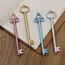 пластиковые ключи для детей Скидка reative золотой ключ нейтральны ручка каваи канцелярские ручки материал принадлежности из пластика офис школы papelaria детские подарки