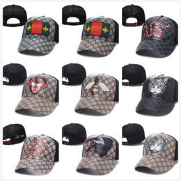 2019 militärische stil caps für männer Fashion SnakeGucci Cap Tiger Hysteresen Baseballmütze Freizeit Hüte Bee Hysteresen-Hüte im Freien Golfsport Hut casquette für Frauen Männer