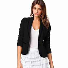Giacca da donna primavera OL Giacca casual due bottoni scialle manica lunga con risvolto completo outwear cappotti cardigan nero Femme Blaser WDC456 supplier cardigan two button da cardigan due bottoni fornitori