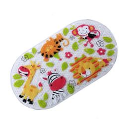 massaggio amore Sconti Ambientale antiscivolo stuoia di bagno del rilievo di massaggio doccia con Cartoon Animal Succhiare Trasparente Tappetino da bagno Baby Love Bagno Carpet SH190919