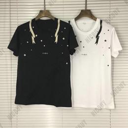 roupas de moda Desconto Designer de moda marca verão mens t-shirt clothing paris carta velha impressão star cobra tshirts camiseta top casual algodão mulheres camiseta