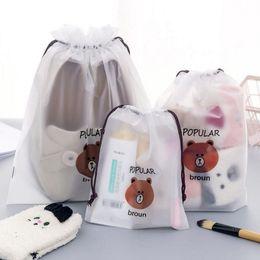 Kit per orsi online-Custodia cosmetica trasparente da viaggio per borse da viaggio da donna di colore bruno Stringa da trucco da donna con astuccio da viaggio cosmetica da bagno 300 pezzi DHL