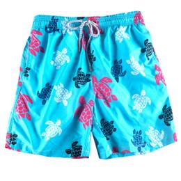 2018 heiße Schildkröte gedruckt Badehose Karton blau Herren Boardshorts schnell trocknend Strand kurze Hosen Bermuda Surf Beach Shorts von Fabrikanten