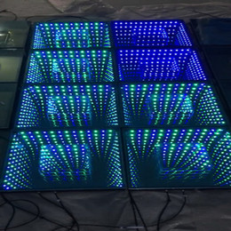 Piso de discoteca led online-Nuevo 3D Led Dance Floor Light Control RGB Led Efecto de escenario Light Stage Panel Panel Luces Disco DJ Fiesta Luces Decoración de la boda